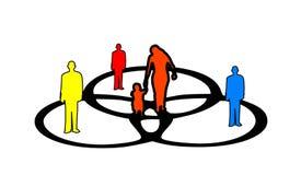 venn людей диаграммы Стоковая Фотография