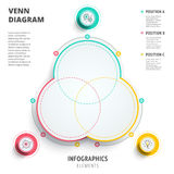 Venn diagram circles infographics template design. 3D vector pre Royalty Free Stock Photography