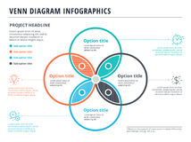 Free Venn Diagram With 4 Circles Infographics Template Design. Vector Stock Photography - 96451882