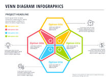 Free Venn Diagram With 4 Circles Infographics Template Design. Vector Royalty Free Stock Image - 96452006