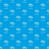 Venn diagramm pattern vector seamless blue. Repeat for any use Stock Photography
