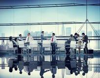 Vennootschap Team Concept van de bedrijfsmensen het Collectieve Vergadering Stock Foto