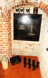 Venom armoir. A poison closet inside the historic pharmacy museum of cracow in poland stock images