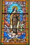 Venster 2 van het gebrandschilderd glas Stock Afbeelding