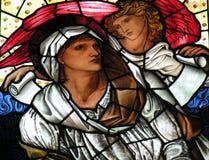 Venster 24 van het gebrandschilderd glas Royalty-vrije Stock Afbeeldingen