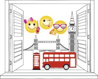 Venster aan Londen vector illustratie