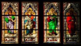 Venster in de Kathedraal van Keulen stock afbeeldingen