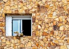 Venster in de Muur stock afbeeldingen