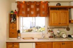 Venster en keuken Royalty-vrije Stock Foto