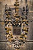 Venster in Klooster van Christus - Tomar stock afbeelding