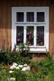 Venster met bloemen Royalty-vrije Stock Foto