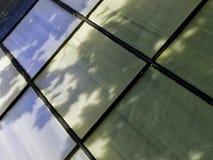 Venster met kleurrijk abstract patroon Stock Afbeelding