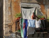 Venster in Palermo, Sicilië Royalty-vrije Stock Afbeeldingen