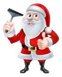 Venster Schonere Kerstman Stock Foto's