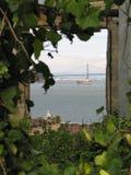 Venster van Alcatraz stock afbeelding