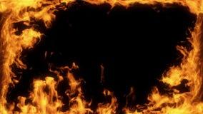 Venster van Brandvlammen Intro Logo Overlay Motion Background stock videobeelden