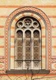 Venster van de Grote Synagoge van Boedapest, Boedapest Royalty-vrije Stock Fotografie