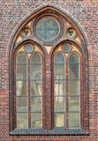 Venster van een Gotische kathedraal Royalty-vrije Stock Afbeeldingen