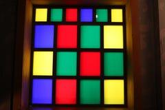 Venster van gekleurd glas Stock Foto