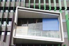 Venster van het Damecilento children Ziekenhuis, Brisbane stock foto