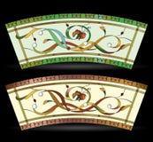 Venster van het elegantie het abstracte bloemengebrandschilderde glas Royalty-vrije Stock Foto