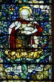 Venster 6 van het gebrandschilderd glas Stock Afbeeldingen