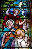 Venster 6 van het gebrandschilderd glas Royalty-vrije Stock Foto