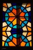 Venster 6 van het gebrandschilderd glas royalty-vrije stock foto's