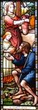 Venster 6 van het gebrandschilderd glas Stock Afbeelding