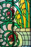 Venster 6 van het gebrandschilderd glas stock foto's