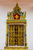 Venster van ubosot in Jomsak-Tempel Royalty-vrije Stock Afbeeldingen