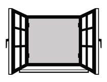 Vensterpictogram Stock Afbeelding
