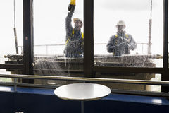 Vensterreinigingsmachines in de Montparnasse-toren Royalty-vrije Stock Fotografie