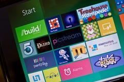 Vensters 8 van Microsoft Stock Foto