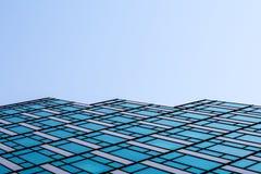 Vensters abstract patroon van een futuristische wolkenkrabber Royalty-vrije Stock Afbeelding