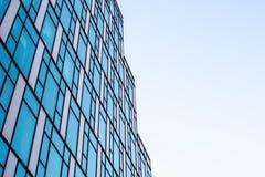 Vensters abstract patroon van een futuristische wolkenkrabber Stock Foto