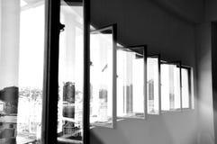 Vensters & stralen van licht Stock Foto