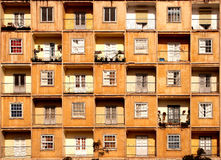 Vensters en balkons Royalty-vrije Stock Foto's