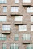 Vensters en balkons Stock Afbeelding