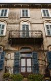 Vensters en balkons, Italië Stock Afbeeldingen