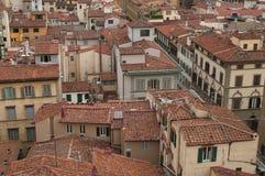 Vensters en daken van Florence royalty-vrije stock afbeeldingen