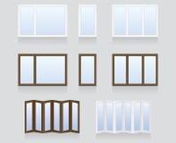 Vensters en deuren Stock Foto's