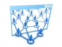 Vensters en sociaal netwerk Royalty-vrije Stock Afbeeldingen