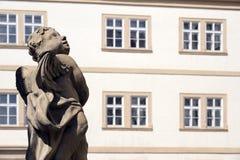 Vensters en standbeeld Royalty-vrije Stock Afbeeldingen