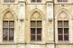 Vensters op de Klokketorentoren in Gent - detail Royalty-vrije Stock Afbeelding