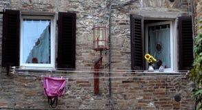 Vensters in Toscanië Royalty-vrije Stock Foto's