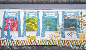Vensters van de de galerijgraffiti van het oosten de zij Royalty-vrije Stock Fotografie