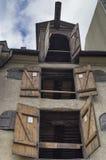 Vensters van de middeleeuwse bouw Royalty-vrije Stock Foto's