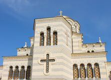 Vensters van kathedraal Vladimirsky in Khersoness, de Krim Royalty-vrije Stock Fotografie
