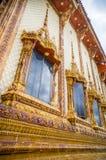 Vensters van kerk in tempel, Thailand Royalty-vrije Stock Afbeelding